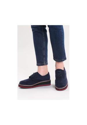 cea mai fină selecție mai ieftin super speciale Pantofi oxford bleumarin cu sireturi si talpa dreapta groasa Piedra din piele  intoarsa eco – Pantofi.Talya.ro